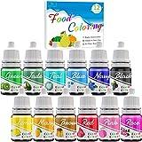 Colorant Alimentaire - 12 Couleurs Colorant Alimentaire Liquide Concentré pour Gâteau, Glaçage, Fondant, Cuisson, Décoration