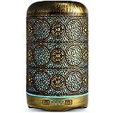 SALKING Aroma Diffuser, 260 ml metalen aromatherapie diffuser voor etherische oliën, ultrasone aromadiffuser, 7 kleuren licht
