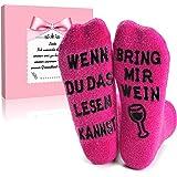 Wenn Du Das Lesen Kannst Bring Mir Witzige Nikolaus Geschenke f/ür Adventskalender F/üllung Geburtstagsgeschenk ALCHARM Lustige Socken Geschenke f/ür M/änner Frauen Weihnachtssocken