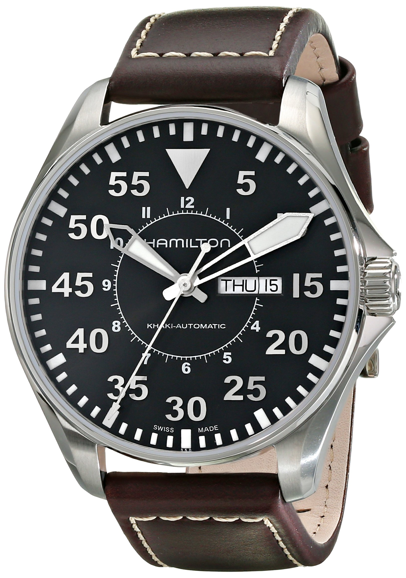 Hamilton Khaki Aviation Pilot Auto – Reloj (Reloj de Pulsera, Masculino,