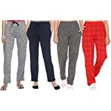 SHAUN Women's Regular Fit Trackpants (Pack of 4) (B07PBW9DT2_Multicolored_XXX-Large)