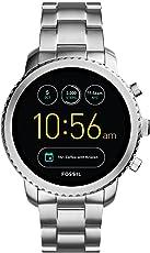 Fossil Herren Smartwatch Q Explorist 3. Generation - Edelstahl - Eindrucksvolle Smartwatch mit Praktischen Funktionen/Für Android & iOS