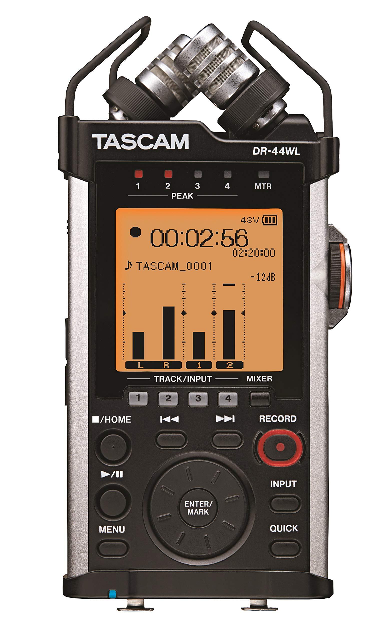 Tascam DR-44WL – Enregistreur de poche 4 pistes avec fonctionnalités Wi-Fi