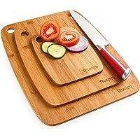 Savisto  taglieri in bamb ugrave    set di 3 taglieri in legno per carne  verdure  formaggio e pane