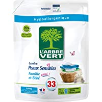 L'ARBRE VERT L'arbre vert - recharge lessive 1.5l peaux sensibles famille bb - 33 lavages - Le bidon de 1,5l