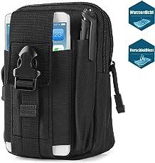 Bapack Sport Taktische Tasche Hüfttasche Bauchtasche, Gürteltasche Handytasche Tasche Waist Bag-Multifunktional für Outdoor Camping Reise Wandern(Schwarz)