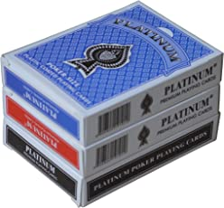 The Ace Card Company Linen Playing Cards (Red, Blue) - 3 Pack