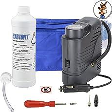 Elastofit Reifenpannenset * Reifendichtmittel 10 Jahre haltbar * 12V Kompressor