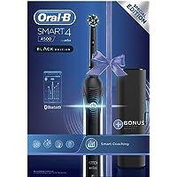 Oral-B Smart 4 4500 CrossAction Spazzolino Elettrico Ricaricabile, 1 Manico Nero Connesso, 3 Modalità Tra Cui Sbiancante…