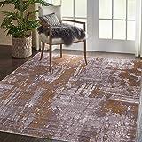 Al Salem Carpet Colorado Polyster polyproplene Carpet Dinning Room Rectangle 150 CM X 230 CM 14.2KG Gold Modern