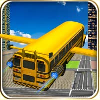 course de bus scolaire volant