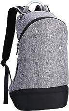 REYLEO Rucksack Herren Daypack für Laptop 15.6 Zoll Mode Tasche Wasserabweisend-Grau