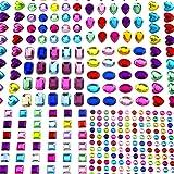 in Verschiedenen Gr/ö/ßen Gru/ßkarten Baozun Selbstklebenden Strasssteine 15 Bl/ätter 2066 Glitzersteine Selbstklebend Schmucksteine Aufkleber f/ür Kinder Handwerke Fotorahmen