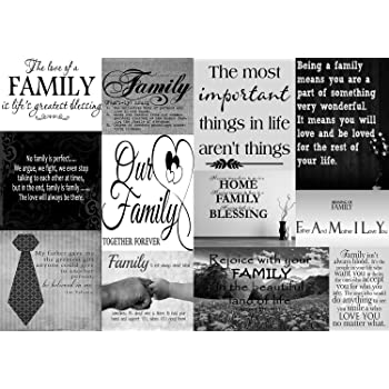 Family Quotes Canvas Wall Art Picture Black White 100 Cotton A1
