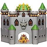 Nintendo Bowser's Castle Super Mario Deluxe Bowser's Castle Playset med 6,3 cm exklusiv artikulerad bowser actionfigur, inter