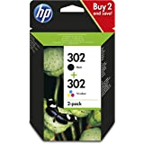 Hp - Combo 302 negro tricolor blister