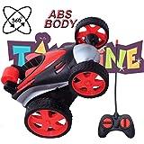 Toyshine Vibe Remote Control Car RC Stunt Vehicle 360°Rotating Rolling Radio Control Electric Race Car Boys Toys Kids RED
