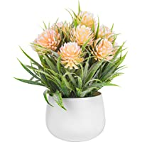 FLYNGO Artificial Flower Plants with Pot for Home, Office, and Living Room Decoration (Aster)