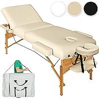 TecTake Table Lit de Massage Pliante Portable - diverses couleurs au choix (Beige)