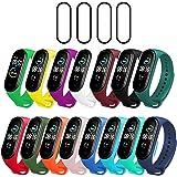 Milomdoi [19 unità] 15 Colori Cinturino + 4Pezzi Pet Pellicola Protettiva per Xiaomi Mi Band 5, Cinturino di Ricambio…
