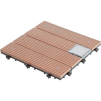 ultranatura sets de dalles de terrasse 20010001003d marron set de 6 pices - Dalle Terrasse Composite 50x50