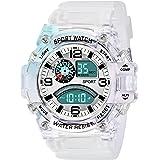 SWADESI STUFF Digital Boy's Watch (Multicolored Dial White Colored Strap)