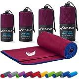 Fit-Flip Mikrofaser Handtuch Set – in Allen Größen / 18 Farben – Ultra leicht, kompakt, & schnelltrocknend – Microfaser Handt