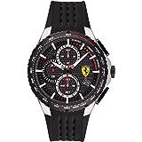 Scuderia Ferrari MEN'S BLACK DIAL BLACK SILICONE WATCH - 830732