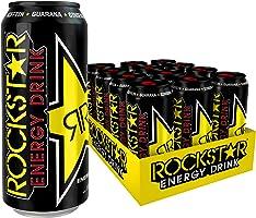 Rockstar Energy Drink Original, Koffeinhaltiges Erfrischungsgetränk für den Energie Kick, einweg (12x 500ml)