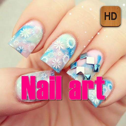 Nail art (Art Water Marble Nail)