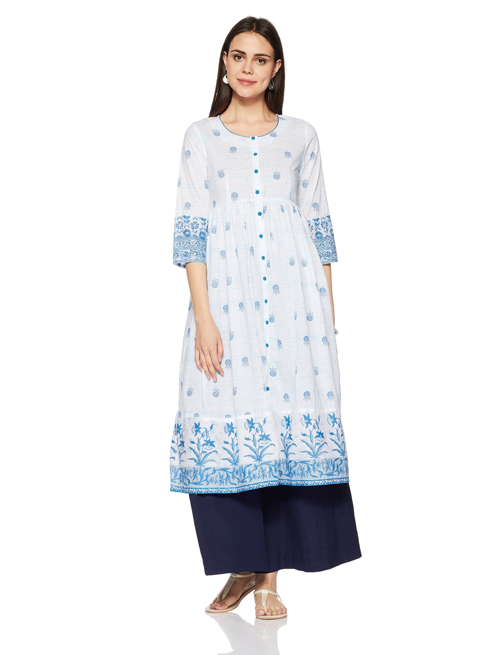 138c47601ec Rangriti Women s Anarkali Kurta - lali mix india