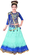 Sky Heights Girls Net Lehenga Choli/Ghagra (Ethnic Wear Dress for Kids)