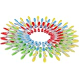 Ensemble de 72 Pinces à Linge en Plastique par Kurtzy - Epingles à Linge Supers Robustes avec Surfaces Anti Adhérentes, Parfaites pour Suspendre les Vêtements sur les Cordes à Linge ou sur les Étendoi