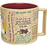 Jane Austen Kaffeetasse - Austens berühmteste Zitate und Darstellungen - kommt in einer lustigen Geschenkbox