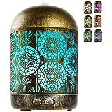 GeeRic Humidificador Aceites Esenciales,300ml humificador de Aromas en Metal Difusor de Aceite perfumado Nebulizador silencio