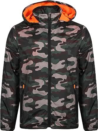Tokyo Laundry Men's Dagenham Camouflage Print Zip up Windbreaker Hooded Rain Jacket Size S-XL
