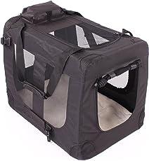 Transportbox faltbar inklusive Polster Hundebox Autobox Katzen in verschiedenen Farben & Größen