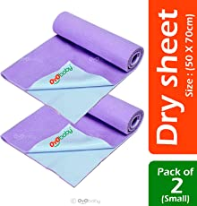 OYO BABY- Baby Bed Protector | Waterproof Dry Sheet Small for New Born Babies Combo Pack of 2 (Each Size : 50 cm X 70 cm)