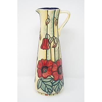 Old Tupton Ware Art Deco Yellow Poppy Design 8 Bud Vase