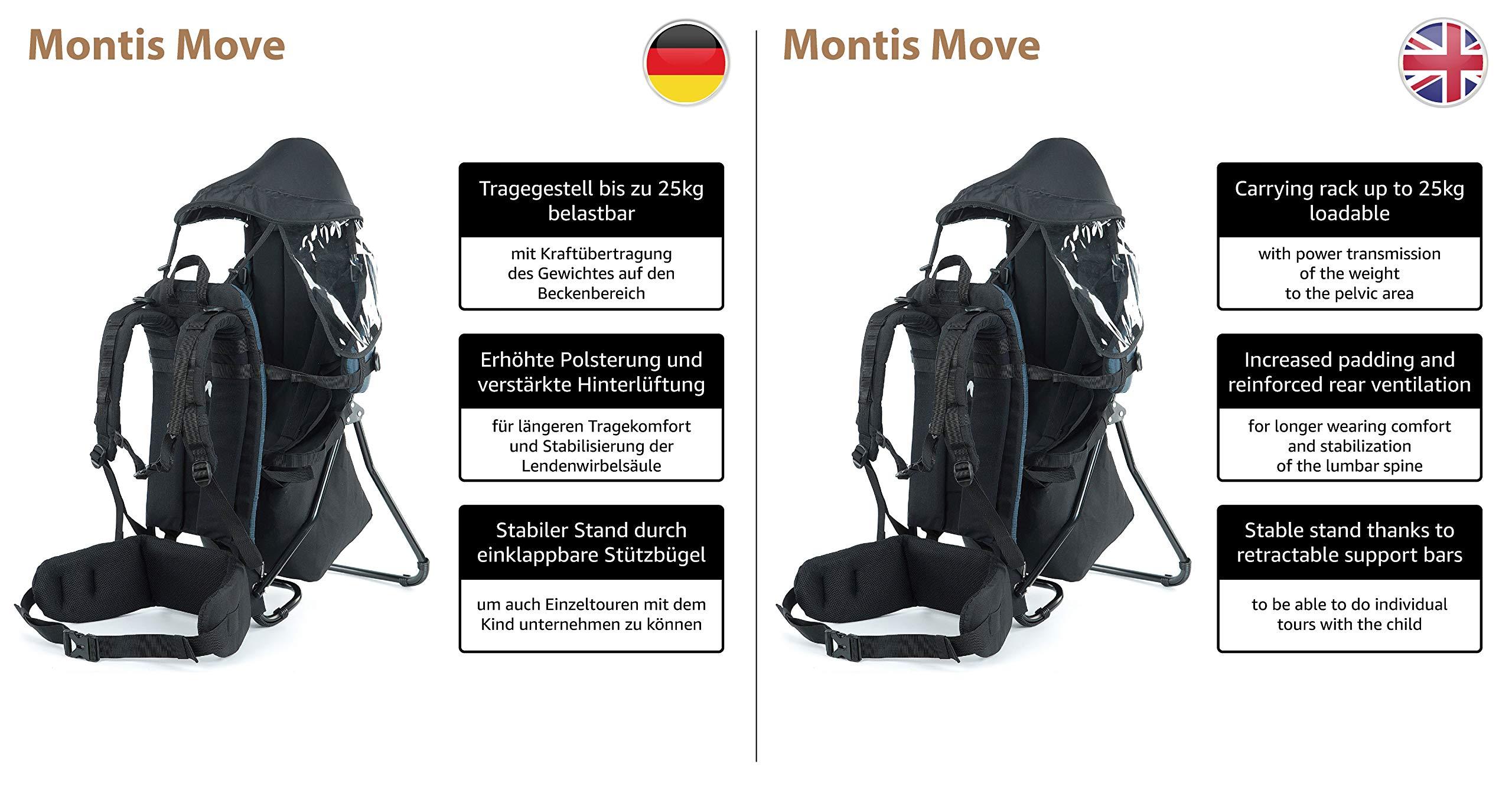 MONTIS MOVE child carrier up to 25 kg 2180 g BLUE back carrier