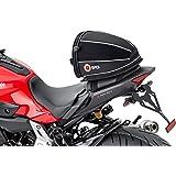 Wosawe Motorrad Hecktasche Multifunktions Pu Leder Fahrrad Gepäck Rücksitz Helm Tasche Mit Wasserdichtem Überzug Und Tragegurt Schwarz Auto