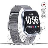 Movaty Q8 Fitness Armband mit Pulsmesser Wasserdicht IP67 Fitness Tracker Aktivitätstracker mit Schrittzähler/Kalorienzähler/Schlafmonitor/Anruf Nachricht Benachrichtigung für ios Android