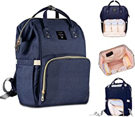 Robustrion Stylish Waterproof Multifunctional Diaper Backpack, 20x18x40cm (Blue)