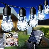 LiyuanQ Solar String Lights Garden 33Ft 50LED Waterproof Fairy Lights Outdoor 8 Mode Solar Powered Crystal Ball Bulb Lights D