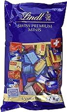 Lindt Napolitains, Mini Schokoladentafeln, 159 Stück (53 x Milch Extra, 35 x Milch-Nuss, 17 x Lindor Milch, 17 x Cresta Milch,17 x Cresta Weiss, 20 x Crémant), 1er Pack (1 x 1 kg)