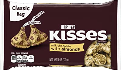 Hershey's Kisses Milk Chocolate With Almonds, 311g