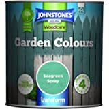 Johnstone's - Garden Colours - Exterior Paint - Fade Resisting - Suitable for Exterior Wood - Seagreen Spray - 1 L
