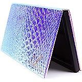 Allwon Magnetisch Palet Zeemeermin Leeg Make-up Palet met Spiegel en 20 Stuks Zelfklevend Leeg Palet Metalen Stickers voor Oo