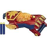 NERF Power Moves Marvel Avengers Captain Marvel Photon Blast-handschoen, NERF-dartblasterspeelgoed voor rollenspel, speelgoed