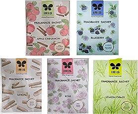 Iris Home Fragrance Sachet (Apple Cinnamon + Sandal + Blueberry + Rose + Lavender + Jasmine + Lemon Grass) Combo Of 7 Fragrances Sachet